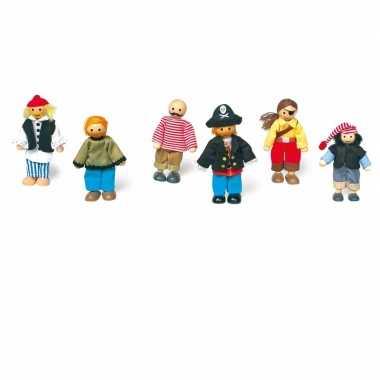 Piraten speelgoed poppen set