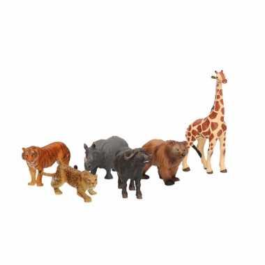 Plastic safari speelgoed dieren figuren 6,5 cm