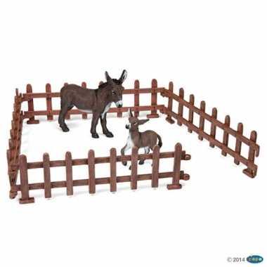 Plastic speelgoed boerderij hekjes 23x6 cm