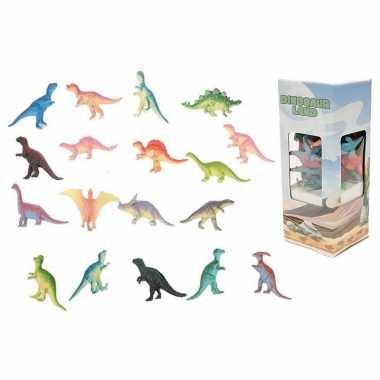 Plastic speelgoed dinosaurussen 18 stuks