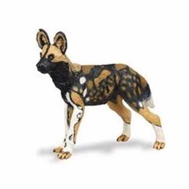 Plastic speelgoed figuur afrikaanse wilde hond 9 cm