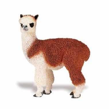 Plastic speelgoed figuur alpaca 9 cm