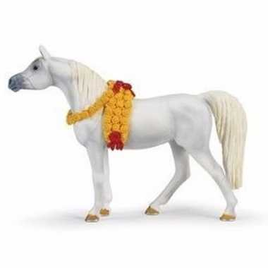 Plastic speelgoed figuur arabier paard merrie 14 cm