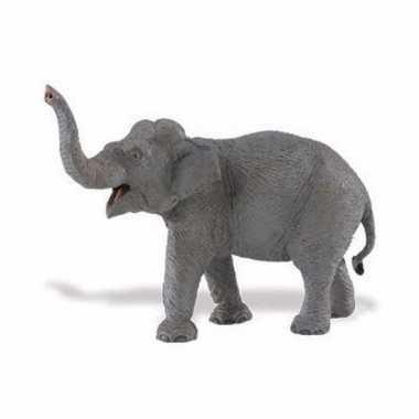 Plastic speelgoed figuur aziatische olifant 16 cm