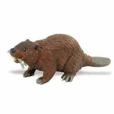 Plastic speelgoed figuur bever 10 cm