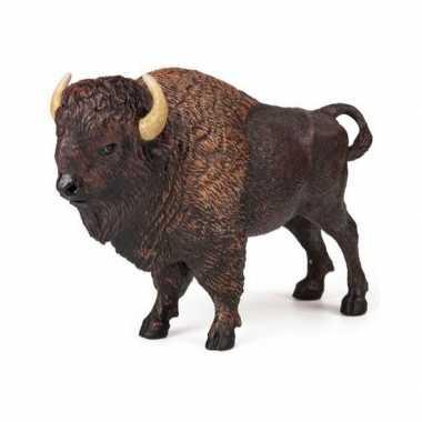 Plastic speelgoed figuur bizon 14,5 cm