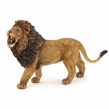 Plastic speelgoed figuur brullende leeuw 15 cm