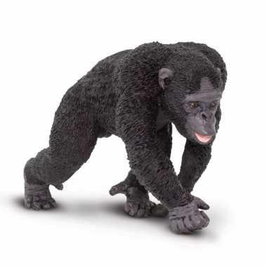 Plastic speelgoed figuur chimpansee 10 cm