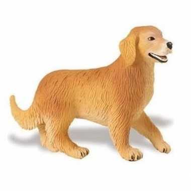 Plastic speelgoed figuur golden retriever hond 10 cm