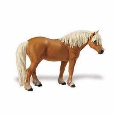 Plastic speelgoed figuur haflinger paard merrie 11 cm