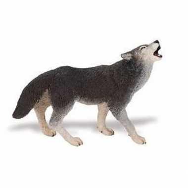 Plastic speelgoed figuur huilende wolf 9 cm