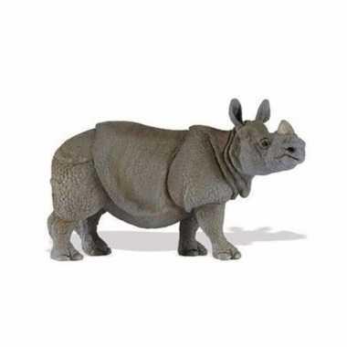 Plastic speelgoed figuur indische neushoorn 12 cm