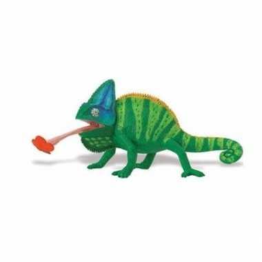 Plastic speelgoed figuur jemen kameleon 23 cm
