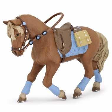 Plastic speelgoed figuur jonge ruiter paard 12 cm