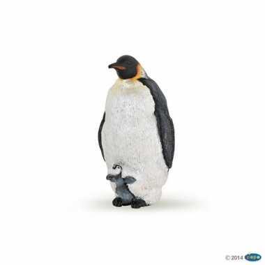 Plastic speelgoed figuur keizer pinguin 4 cm