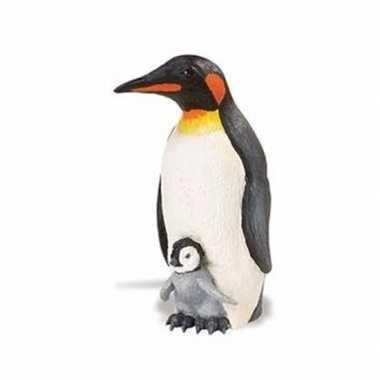 Plastic speelgoed figuur keizerspinguin 11 cm