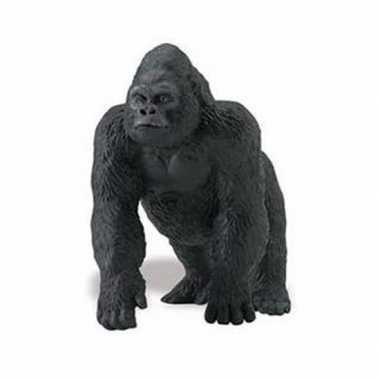 Plastic speelgoed figuur laagland gorilla 11 cm