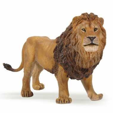 Plastic speelgoed figuur leeuw 14 cm