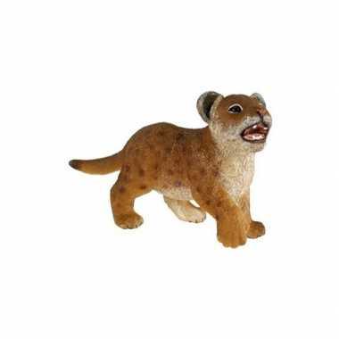 Plastic speelgoed figuur leeuwen welpje 7 cm