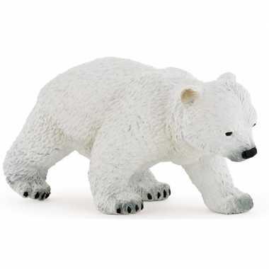 Plastic speelgoed figuur lopend ijsbeer welpje 8 cm