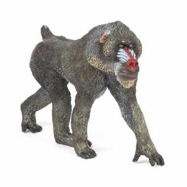 Plastic speelgoed figuur mandrill aap 10 cm