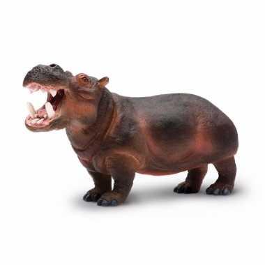 Plastic speelgoed figuur nijlpaard 24 cm
