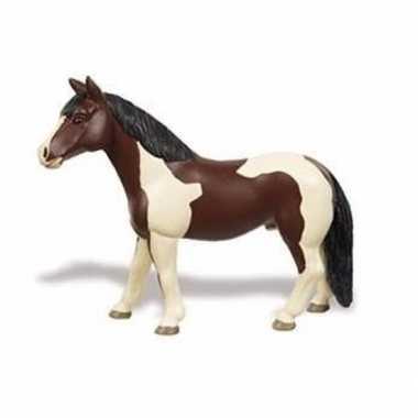 Plastic speelgoed figuur pinto paard merrie 12 cm