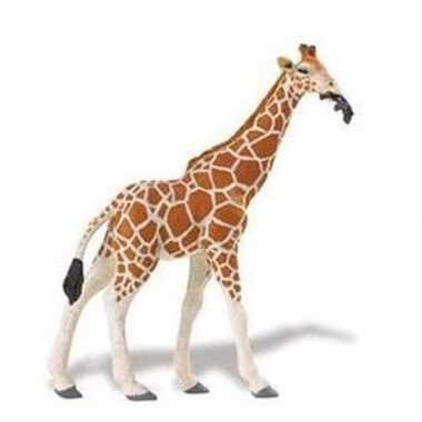 Plastic speelgoed figuur somalische giraffe 14 cm
