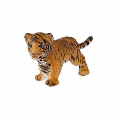 Plastic speelgoed figuur tijger welpje 3,5 cm