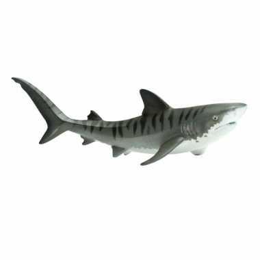 Plastic speelgoed figuur tijgerhaai 11 cm