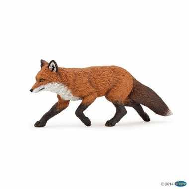 Plastic speelgoed figuur vos 9 cm