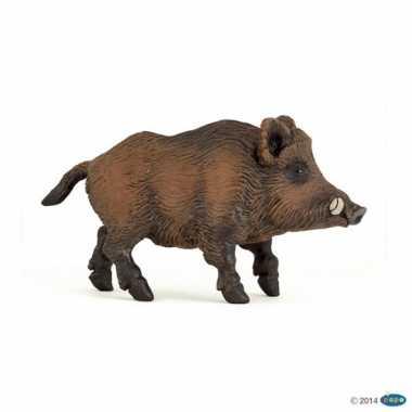 Plastic speelgoed figuur wild zwijn 9,5 cm