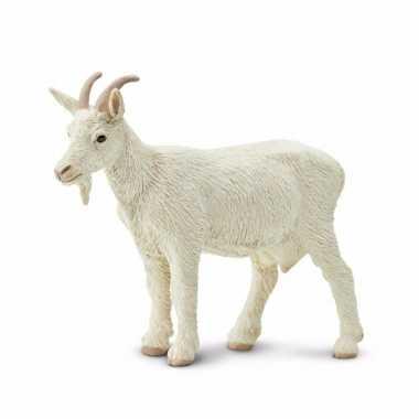 Plastic speelgoed figuur witte geit 8 cm