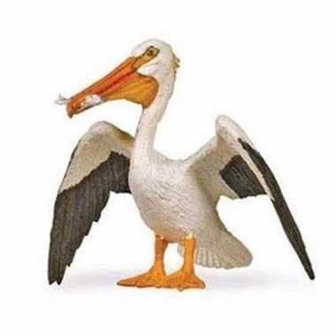 Plastic speelgoed figuur witte pelikaan 6 cm
