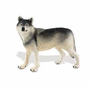 Plastic speelgoed figuur wolf 13 cm