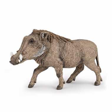 Plastic speelgoed figuur wratten zwijn 10 cm