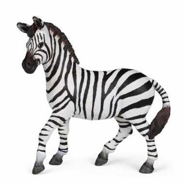 Plastic speelgoed figuur zebra 16 cm