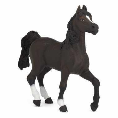Plastic speelgoed figuur zwart arabieren paard 13 cm