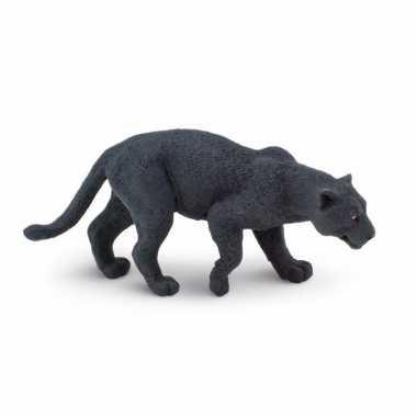 Plastic speelgoed figuur zwarte panter 10 cm