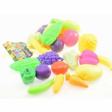 Plastic speelgoed groenten en fruit