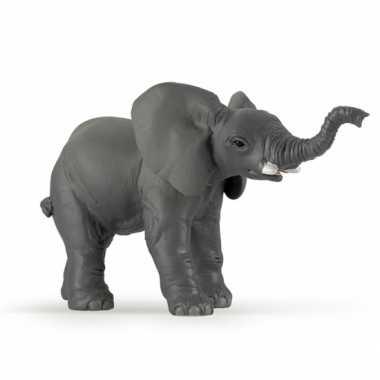 Plastic speelgoed olifant kalfje 11 cm