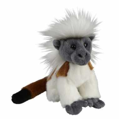 Pluche bruin witte pinche aap apen knuffel 18 cm speelgoed