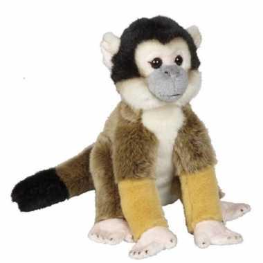 Pluche bruine doodshoofdaapje aap apen knuffel 28 cm speelgoed