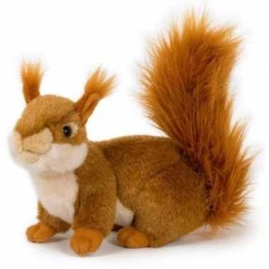 Pluche eekhoorn knuffel 20 cm speelgoed