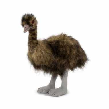 Pluche emoe struisvogel knuffel 38 cm speelgoed