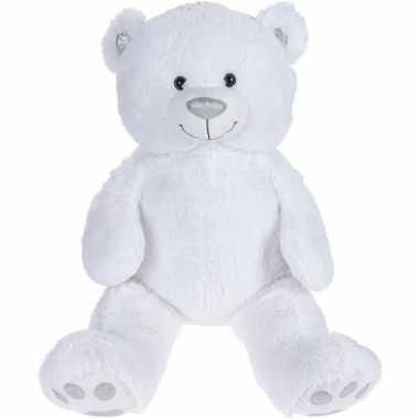 Pluche grote witte beer beren knuffel 130 cm speelgoed