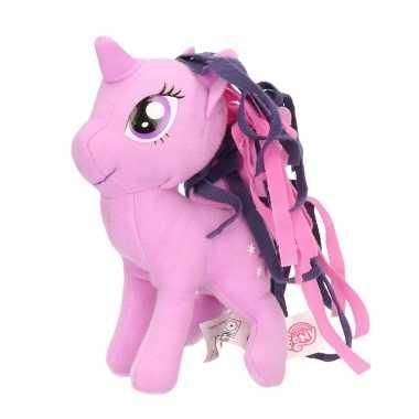 Pluche my little pony twilight sparkle speelgoed knuffel lila 13 cm