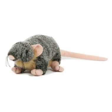 Pluche rat/muis knuffel 18 cm speelgoed
