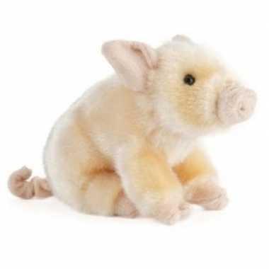 Pluche roze varken big knuffel 20 cm speelgoed