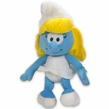 Pluche smurfin smurfen knuffel pop 38 cm speelgoed